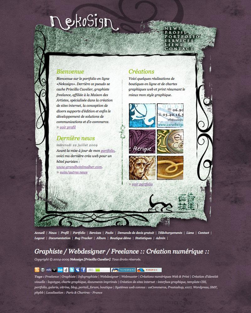 Webdesign Nekosign v2 full screen