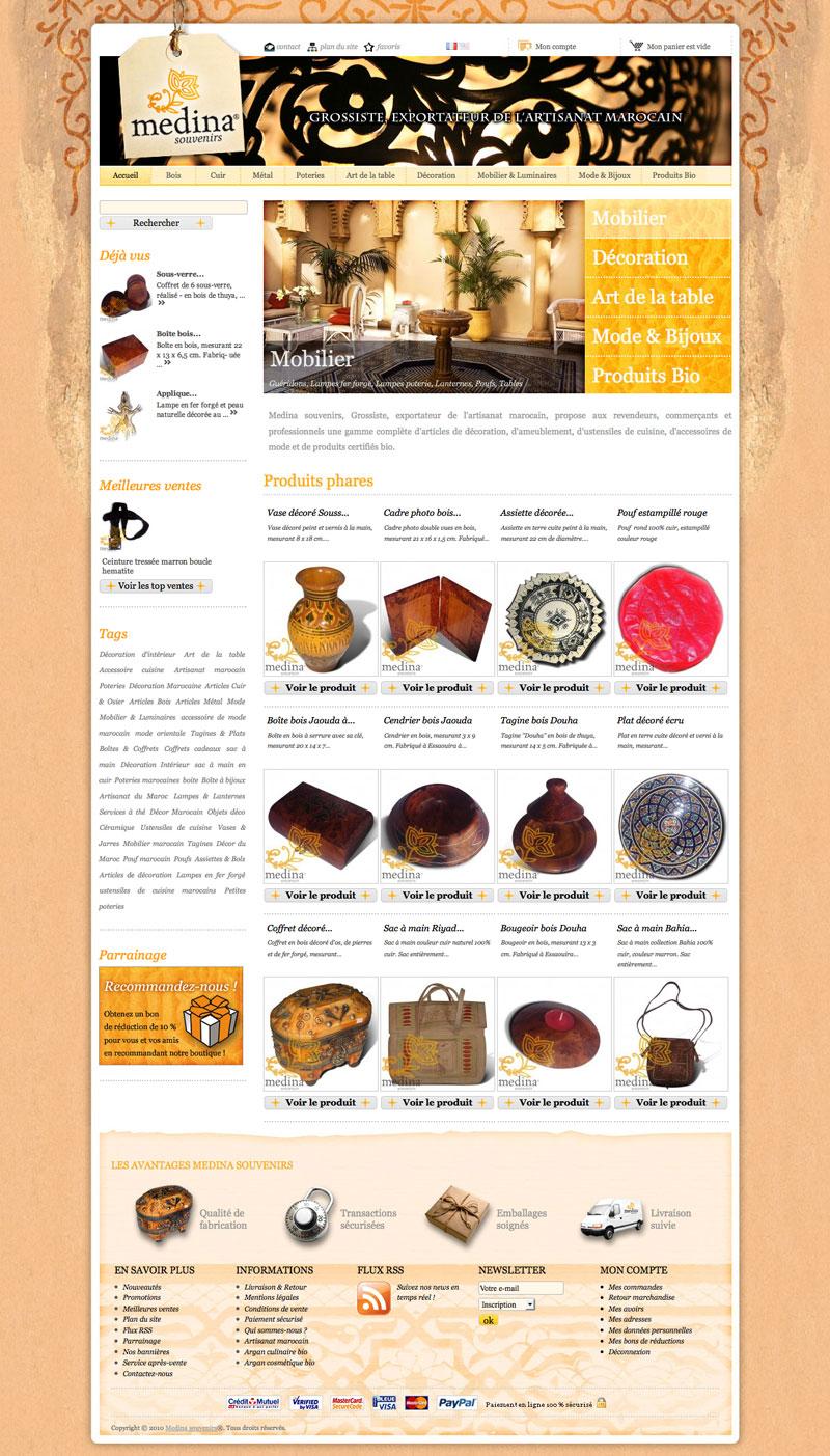 Medina Souvenirs Website e-shop