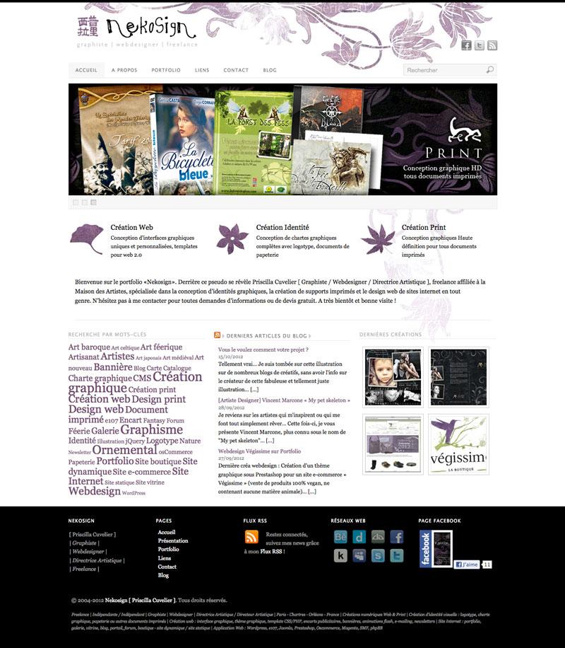 Webdesign Nekosign v3.1 - Accueil