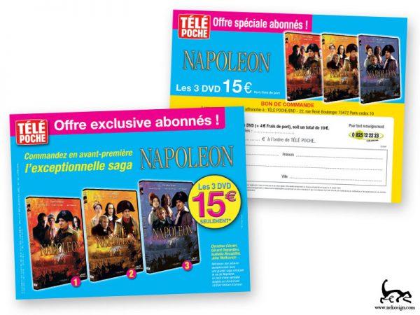 Télé Poche Leaflet abonnement DVD Napoléon