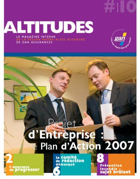 Magazine Gan Altitudes - Couverture
