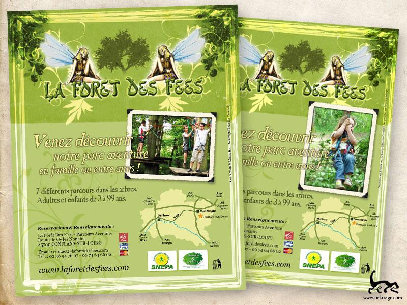 Annonce presse et flyer La forêt des fées