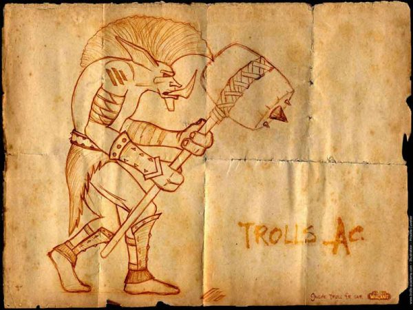 Wallpaper Trolls Warrior
