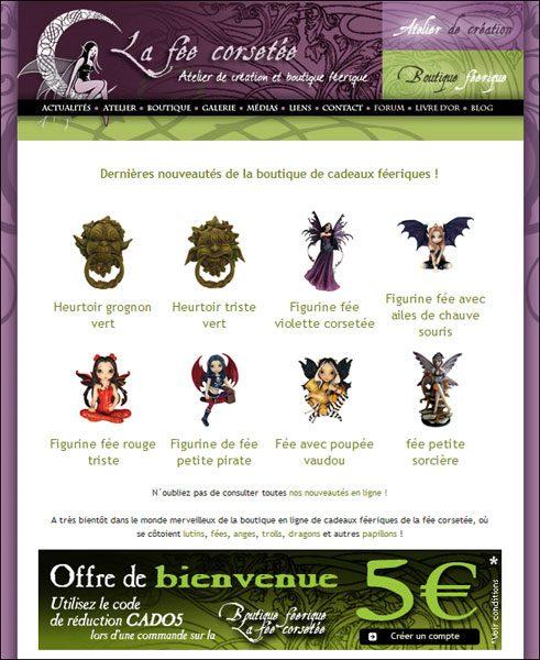 Com La fée corsetée v3 2008 Newsletter