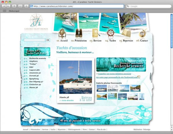 Site AFL - Galerie Yachts