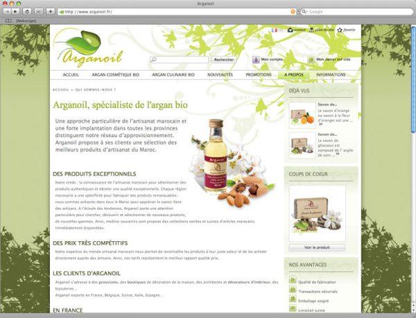 Site Arganoil - Informations