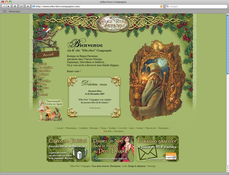 Site Elfes Fees Cie V1 Noel 2007