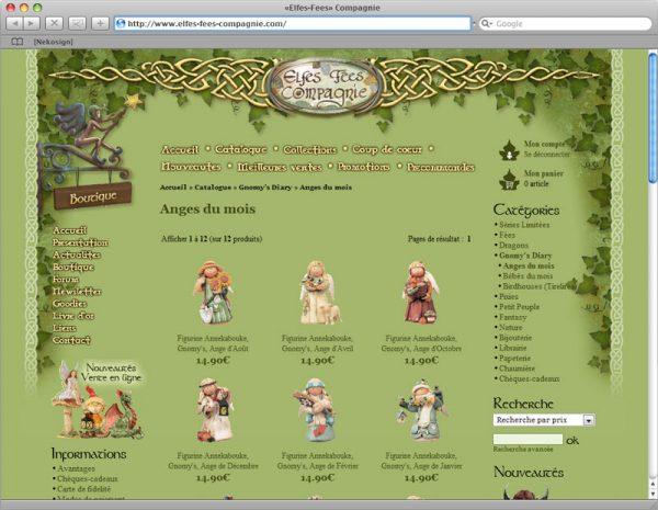 Webdesign Site Elfes-Fées Cie v1 - Rubrique 2