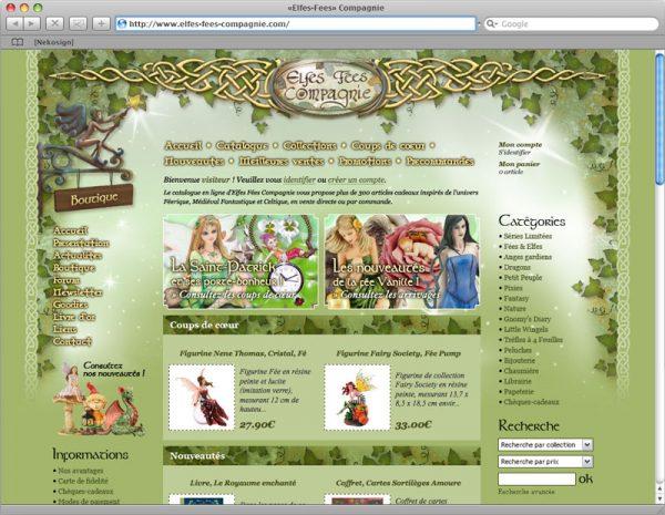 Webdesign Elfes-Fées Compagnie v2 - Printemps