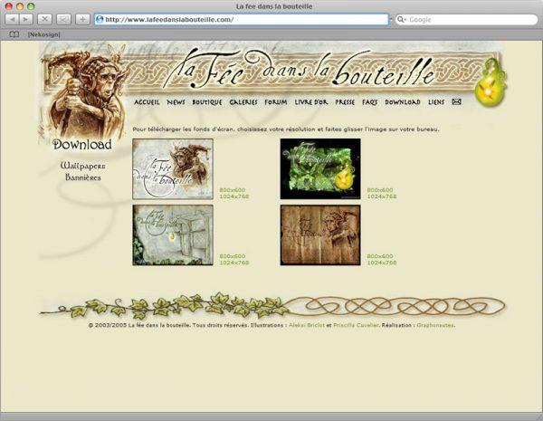 Site La fée dans la bouteille v5 - Download