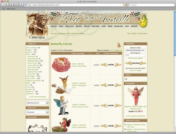 Webdesign Site La fée dans la bouteille v6 - Rubrique