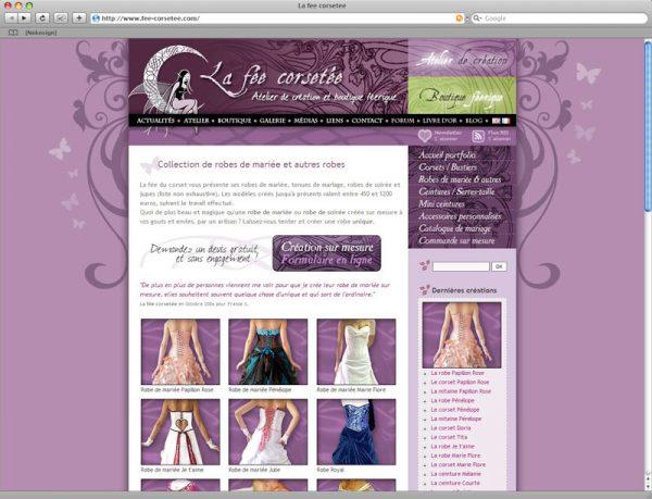 Site La fée corsetée v3 - Portfolio rubrique