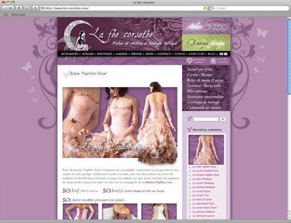 Site La fée corsetée v3 - Portfolio fiche