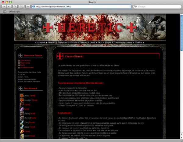 Site Heretic - Info