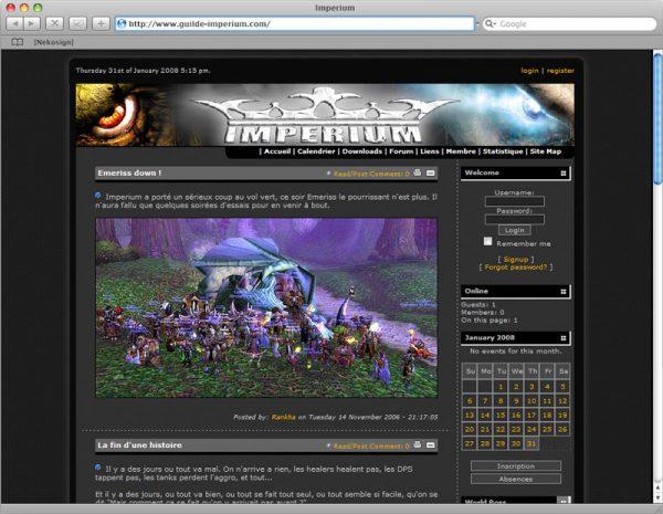 Site Imperium - Accueil