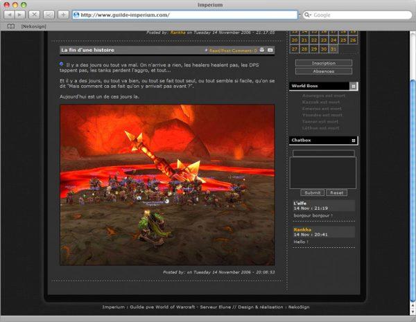 Site Imperium - Accueil Bas de page
