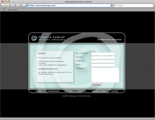 Site Nekosign v1 - Contact