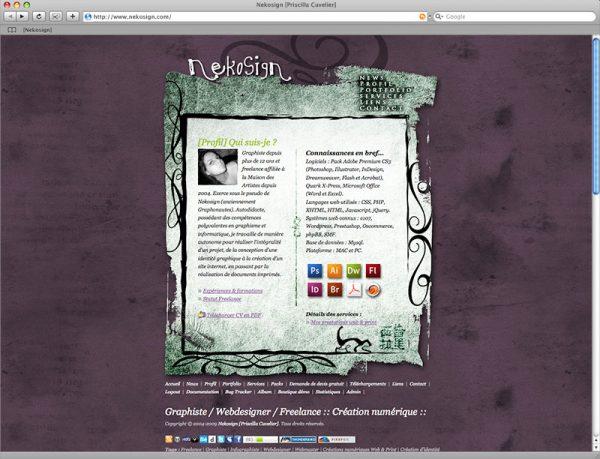 Site Nekosign v2 - Profil