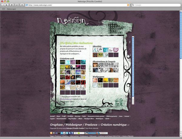 Site Nekosign v2 - Portfolio