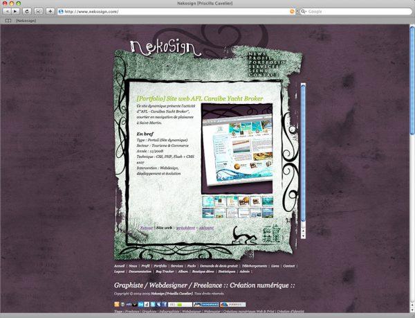 Site Nekosign v2 - Portfolio fiche