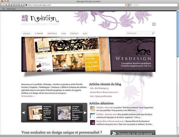 Site Nekosign v3 - Accueil