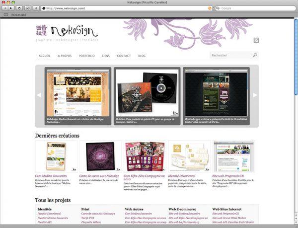 Site Nekosign v3 - Portfolio