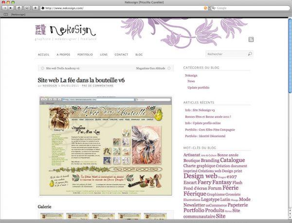 Site Nekosign v3 - Portfolio fiche