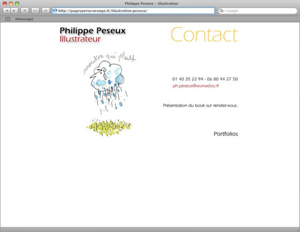 Site Philippe Peseux v2 - Contact