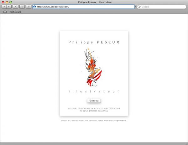 Site Philippe Peseux v3 - Intro