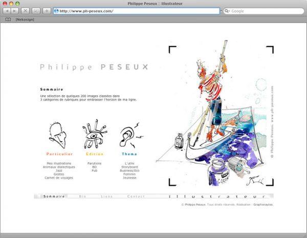 Site Philippe Peseux v3 - Portfolio