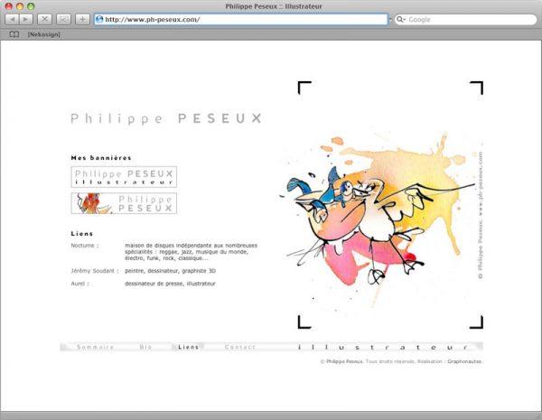 Site Philippe Peseux v3 - Liens