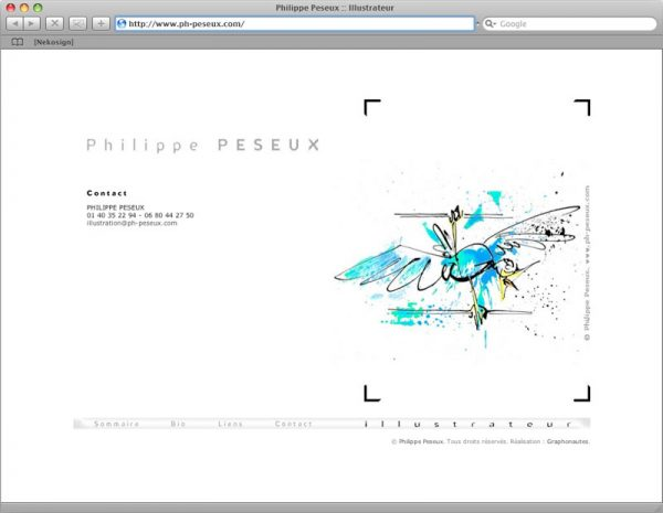 Site Philippe Peseux v3 - Contact