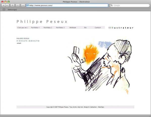 Webdesign Site Philippe Peseux v4 - Contact