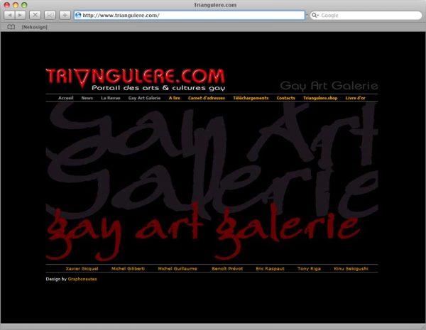 Site Triangul'ère - Gay Art Galerie