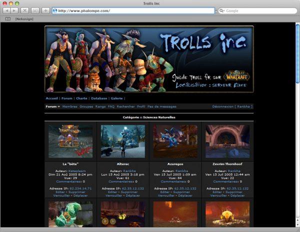 Site Trolls v1 - Galerie