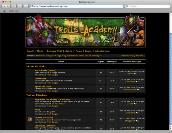 Webdesign Site Trolls v2 - Forum
