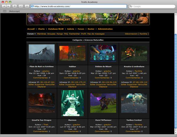 Webdesign Site Trolls v2 - Galerie