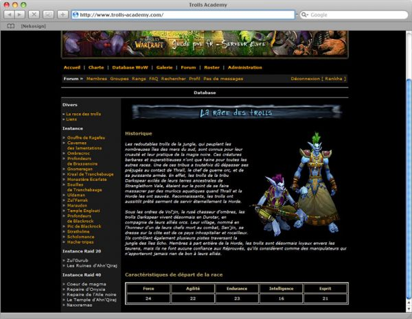 Webdesign Site Trolls v2 - Database 1