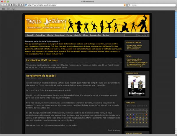 Site Trolls v3 - Accueil