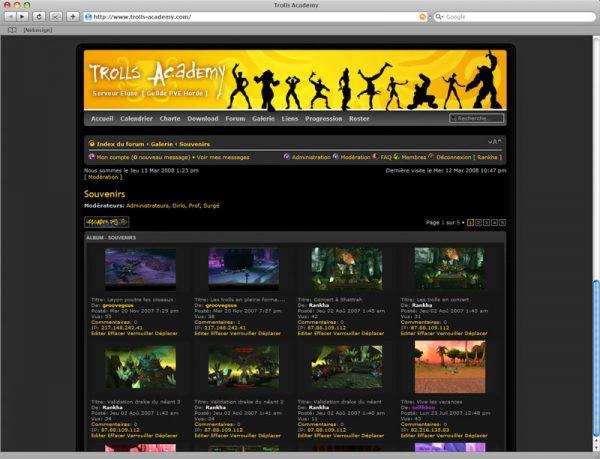 Site Trolls v3 - Galerie