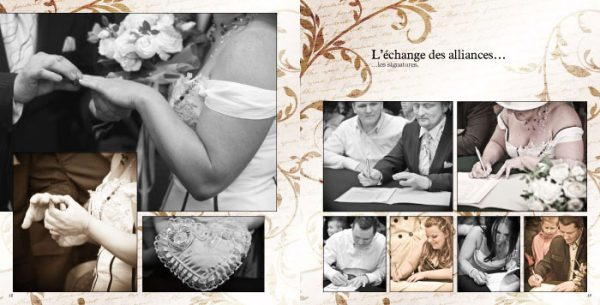 Album mariage Pages 18-19