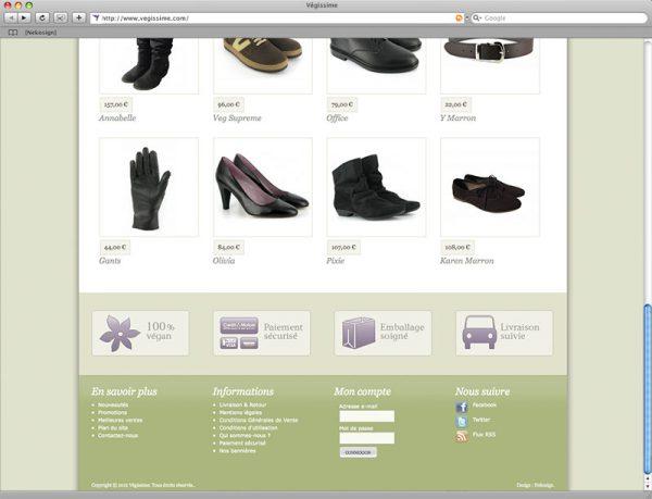 Webdesign Végissime - Accueil - Bas de page