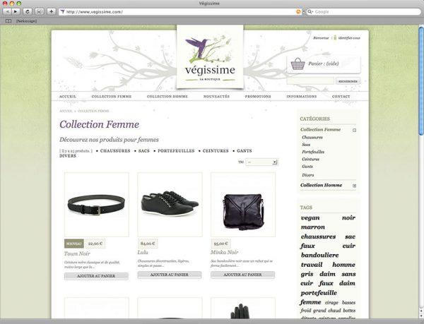 Webdesign Végissime - Catégorie produit