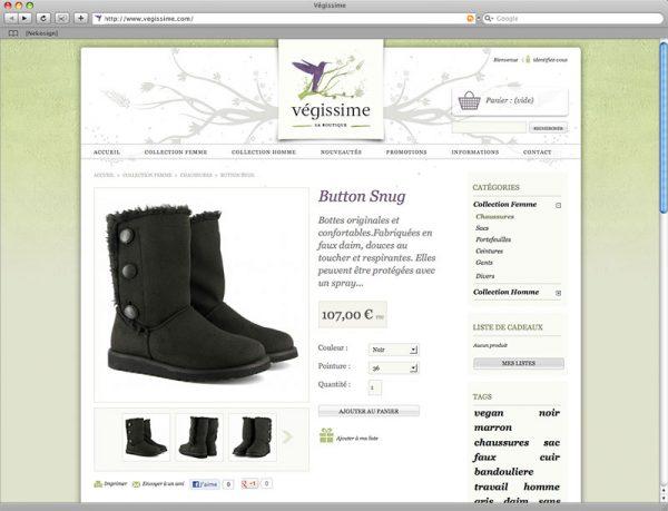 Webdesign Végissime - Fiche produit