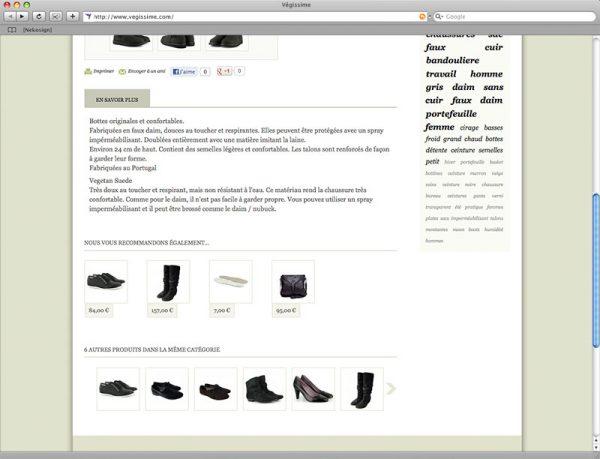 Webdesign Végissime - Fiche produit - Bas de page