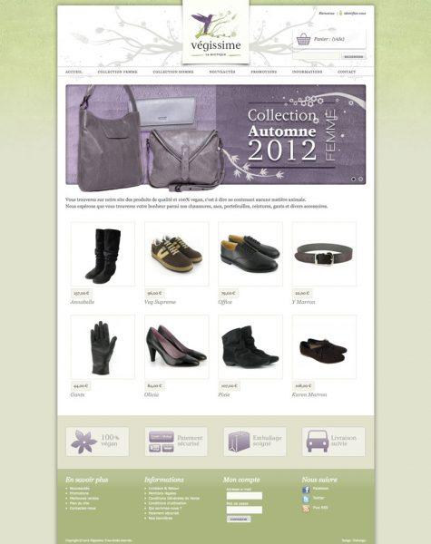 Végissime Webdesign e-shop