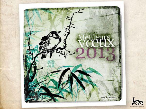 Print Carte de voeux 2013 - Nekosign