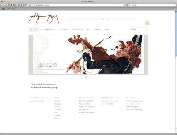 Webdesign Philippe Peseux v5 - Accueil