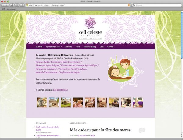 Webdesign oeil céleste relaxation screen 1