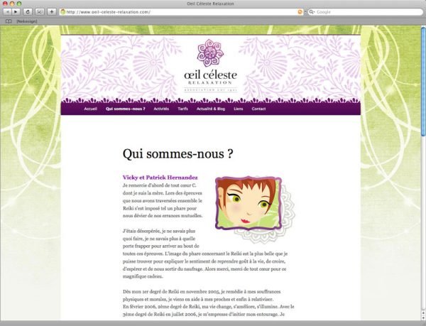 Webdesign oeil céleste relaxation screen 3